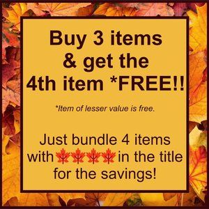 Other - 🍁🍁🍁🍁BUY 3 items & GET 4TH item FREE!!!